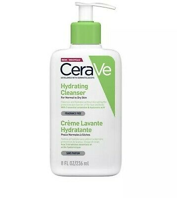CeraVe Hydrating Cleanser, 236ml. Cleasing Face Wash For Normal To Dry Skin.