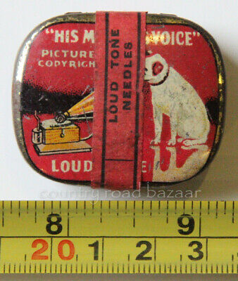 HMV Gramophone LOUD Needles RED Tin FULL Unopened APPROX 200 with Paper Label