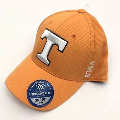 info for 8382e 9c7e5 NWT Tennessee VOLUNTEERS Vols Top of the World Memory Fit One Fit M L Orange