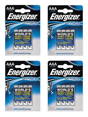 Offre exceptionnelle 16 piles AAA ENERGIZER Ultimate Lithium LR03 1,5V