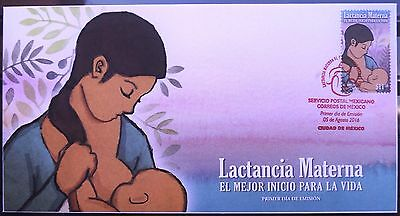 Mexico 2016 FDC Lactation Nursing Motherhood Mother Baby Women Mom Milk Mum XF