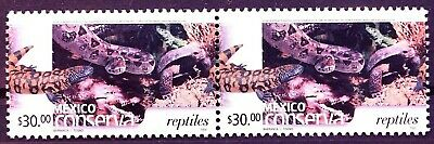 Mexico Conservation Perm Series Hor Pair Reptiles $30 Snake Salamander Coco MNH