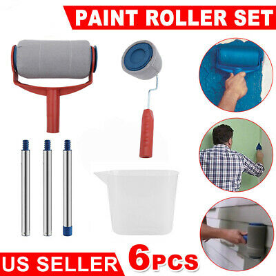8 Pcs Paint Roller Runner Pro Wall Pro Painting Racer Kit Room