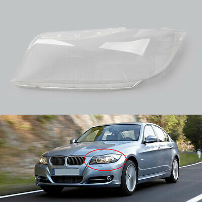 Left Side Clear Headlight Headlamp Lens Cover For BMW 3 Series E90 2006-2012