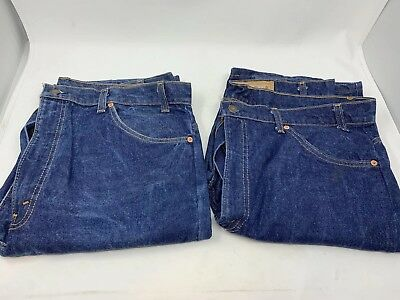 Two Pairs Of Vintage Orange Tag Mens Levis 40x32 Some Flaws
