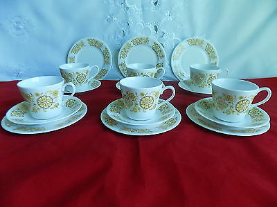 Royal Vale Yellow Floral 18 Piece Coffee / Tea Set