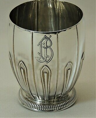PUIFORCAT Timbale gobelet art déco argent minerve /solid silver juled cup timbal