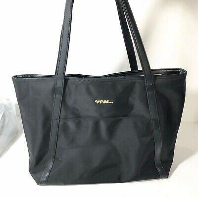 NNEE Large Water Resistance Nylon Travel Tote Shoulder Bag Black