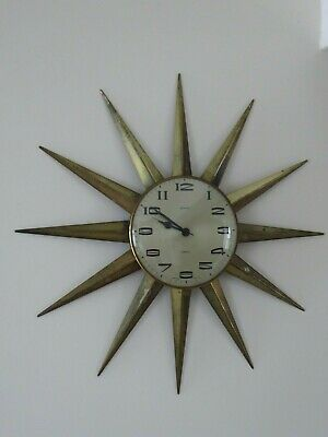 Vintage Metamec Sunburst Clock