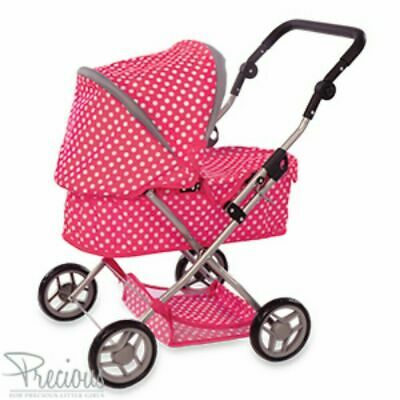 Dolls Pram Girls Toy Baby Pushchair Doll Folding Buggy Dolly Childrens Play Kids