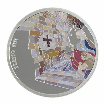 1 Oz silver.999 Medal - Via Dolorosa Stations - Jesus meets women Jerusalem