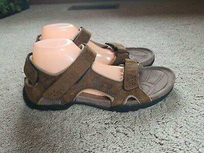 000d0dadd5fe EXC Teva Fossil Canyon Brown Leather Waterproof Sport Sandal 6101 Men s US  12