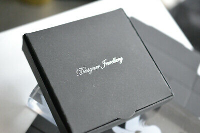 Jewellery Gift Boxes Black With Hearts Flat Pack D 09 1 49