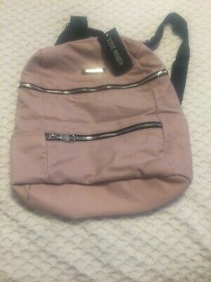 237114f0230 NEW With Tag Steve Madden Blush Pink Bchev Backpack Beautiful Silver  Hardware