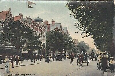 Southport, Lord Street East, Postcard, 1908