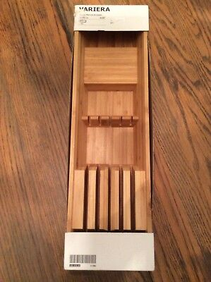 New NIP IKEA Bamboo Drawer Knife Utensil Kitchen Holder Variera Marcus Arvonen