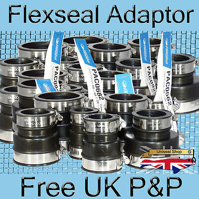 Flexseal Flexible Rubber Boot Pipe Reducer EPDM Adaptor Coupling Connector