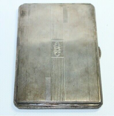 1946 Charles S. Green & Co. 'Birmingham' Sterling Silver Cigarette Case