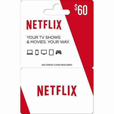 Netflix Gift Card $60 Value   DISCOUNTED   Email Delivery Within 24 Hours