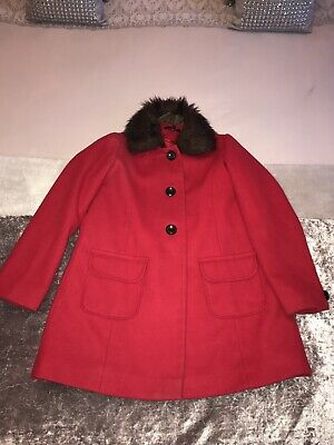 Girls M&S Red Duffle coat 9-10, Girls Marks And Spencers Red Coat Age 9-10