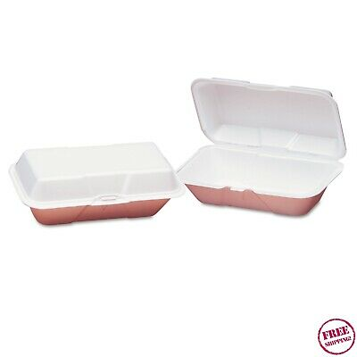 Large Hoagie Hotdog Wedge Food Foam Hinged Containers, 200 Containers (GNP21900)