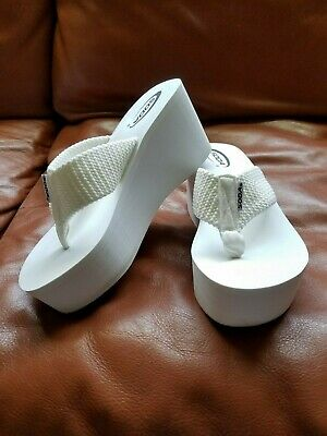 05e67774f64 OXLEY! SODA WOMEN S Woven Thong Slip On Flip Flop Platform Wedge ...