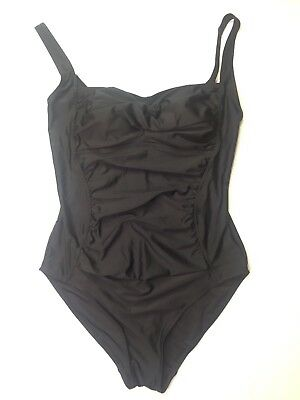 2792b740a0 Womens Black Size 10 One 1 Piece Swim Bathing Suit Stretch Slimming Jaclyn  Smith