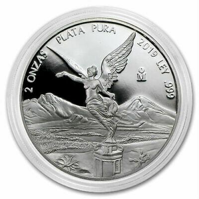 *SALE* PROOF LIBERTAD - MEXICO - 2019 2 oz Proof Silver Coin in Capsule