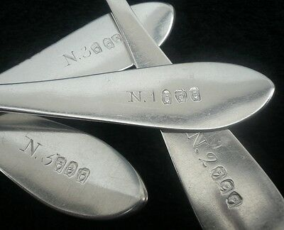 4 Scottish Provincial Silver Serving Spoons, DUNDEE c.1800, Unknown Maker