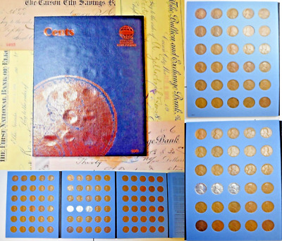 1909-1958 Lincoln  Wheat Cent Pds 3 Page Book~09Vdb, 13D, 15D, 22D, & 55 Pm Ddo!