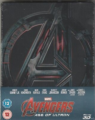AVENGERS : AGE OF ULTRON 3D - Steelbook (Blu-ray) - NO in Italiano