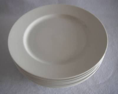 """Mikasa Ivory L2801 Trousdale Dinner Plate 10-7/8"""" Solid White Multiple Available"""