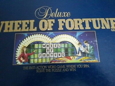 VINTAGE 1996 Deluxe Wheel of Fortune Board Television Game T.V. Trivia COMPLETE!