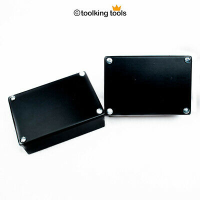 "Adaptable Electrical junction Box x2 boxes , black with Knockouts, 6"" x 4"" x 2"""