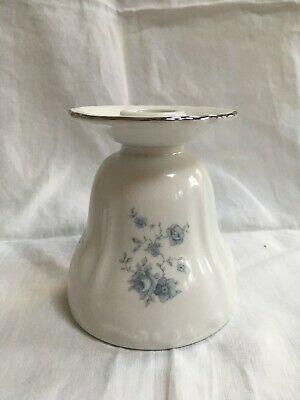 "Vintage Johann Haviland Bavaria Fine China Candle Holder ""Blue Garland"" Pattern"