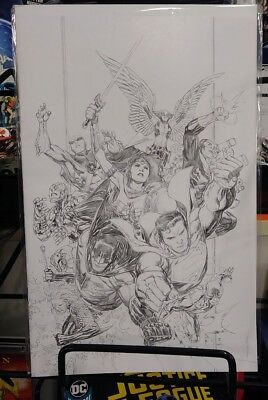 Justice League #1 Jim Cheung 1:250 Pencils Only Virgin Variant DC 2018 Snyder