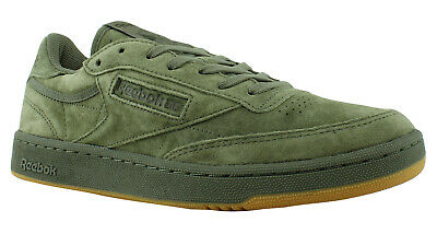 0d59922e772 Reebok Mens Club HunterGreen PoplarGreen-gum Fashion Shoes Size 10.5  (411898)