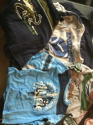 Bulk Lot- 5 Short Sleeve Boys Shirts Size 12 Month And 12-18 Month See Pics,