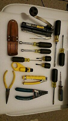 Lot of15 KLEINElectricians Tools: Crimpers, Strippers,Mor