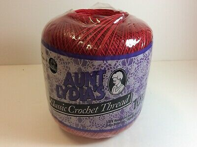Aunt Lydia's Classic Crochet Thread Size 10-Victory Red