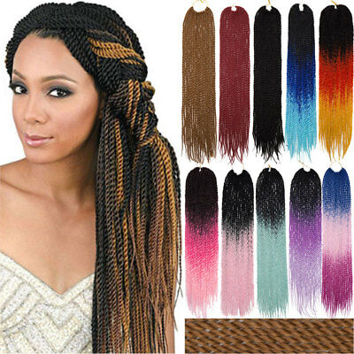 24 Micro Long Senegalese Twist Crochet Braiding Hair Extensions