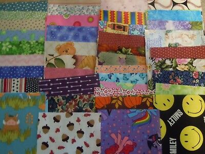 100% Cotton Fabric 5 inch squares i spy 100+ blocks lot pieces quilt blanket