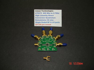 Linear Technologies LT5575, 800 MHz to 2.7GHz Test Fixture, pre owned