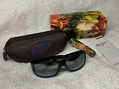 d8ae6c2b32 Maui Jim Wassup MJ123-02W Polarized Sunglasses. Black Wood Grain Frame Gray  Lens