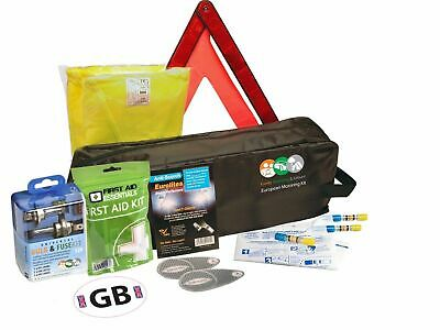 10 Piece European Travel Kit Legal Recommended Euro Items Driving in France