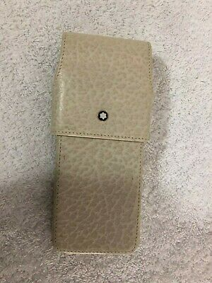 Mont Blanc - 3Pen Case - Slide Top - Cream - Brand New - Worldwide Shipping -