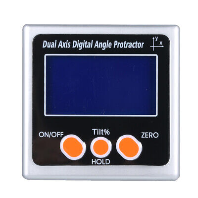 Dual Axis Digital Angle Protractor 360° Measuring Range Backlight Inclinometer