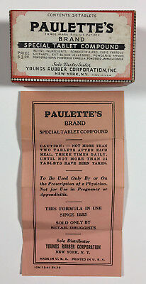 Paulettes Brand Special Tablet Compound Antique Medicine Box Insert Unused
