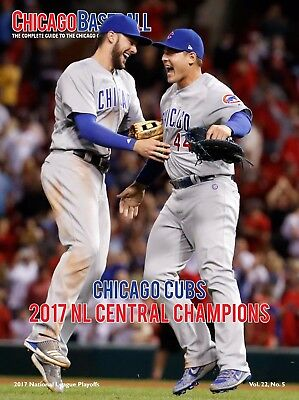 Chicago Cubs 2017 NL Playoffs Program/Scorecard Anthony Rizzo Kris Bryant