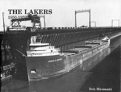 "Book ""THE LAKERS, 1950-1959""  -  B&W Pictorial of Great Lakes ships"